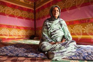 Two Saharawi refugees in Al' Asurd refugee camp