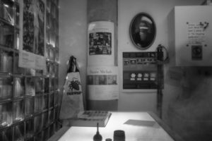 Pinhole Glassell: at the light table