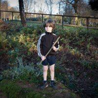 Boy with Stick Gun playing World War III ('Russia versus Ukraine') © Margaret Mitchell